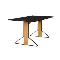 カアリテーブル REB012 / ブラック W160×D80cm
