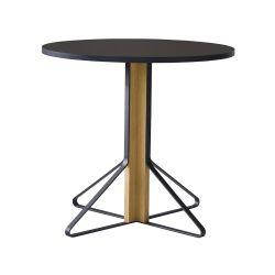 カアリテーブル REB003 / ブラック φ80×H74cm