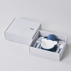 ギフトボックス ベア カトラリー ネイビー / Gift box bear cutlery