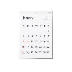 カレンダー 2022 / Typeface Carendar Gill Sans 壁掛けカレンダー