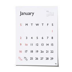 【数量限定】カレンダー 2022 / Typeface Carendar Gill Sansポスターカレンダー