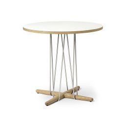 E020 エンブレイステーブル φ79.5cm ホワイト / オーク材 オイルフィニッシュ