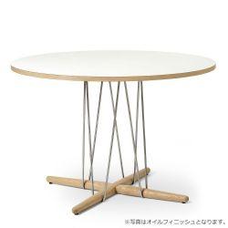 E020 エンブレイステーブル φ110cm ホワイト / オーク材 ソープフィニッシュ