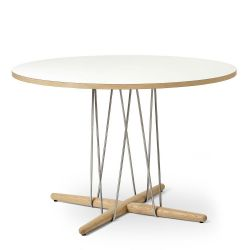 E020 エンブレイステーブル φ110cm ホワイト / オーク材 ホワイトオイルフィニッシュ