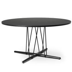E020 エンブレイステーブル φ139.5cm ブラック /オーク材 ブラック塗装