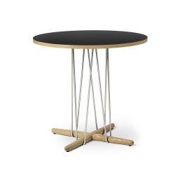 E020 エンブレイステーブル φ79.5cm ブラック / オーク材 オイルフィニッシュ