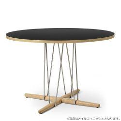 E020 エンブレイステーブル φ110cm ブラック / オーク材 ラッカー塗装