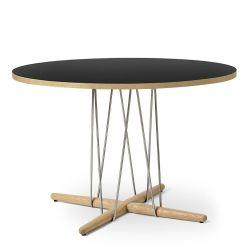 E020 エンブレイステーブル φ110cm ブラック / オーク材 オイルフィニッシュ