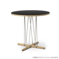 E020 エンブレイステーブル φ79.5cm ブラック / オーク材 ソープフィニッシュ