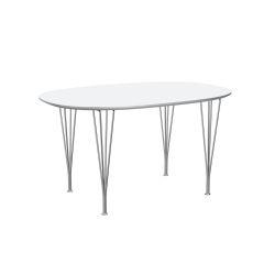 スーパー楕円テーブル / B611 ホワイト W135×D90cm
