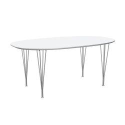スーパー楕円テーブル ホワイト W170×D100cm / Super Ellipse B616