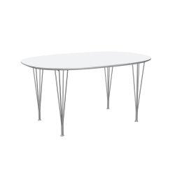 スーパー楕円テーブル / B612 ホワイト W150×D100cm