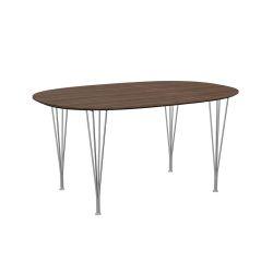 スーパー楕円テーブル ウォールナット W150×D100cm / Super Ellipse B612