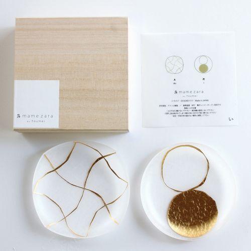 箔mamezara「い」2枚セット木箱入 (tomei / トウメイ)