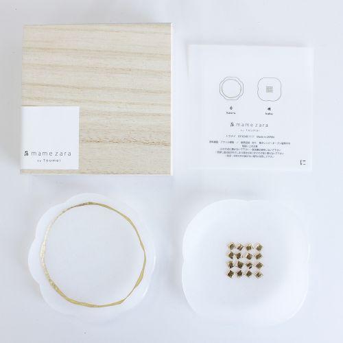 箔mamezara 「に」 2枚セット木箱入 (tomei / トウメイ)