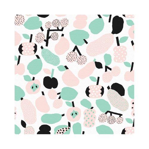 【在庫限り】ハンカチ / SC011 Tutti Frutti ライトグリーン  (kauniste / カウニステ)
