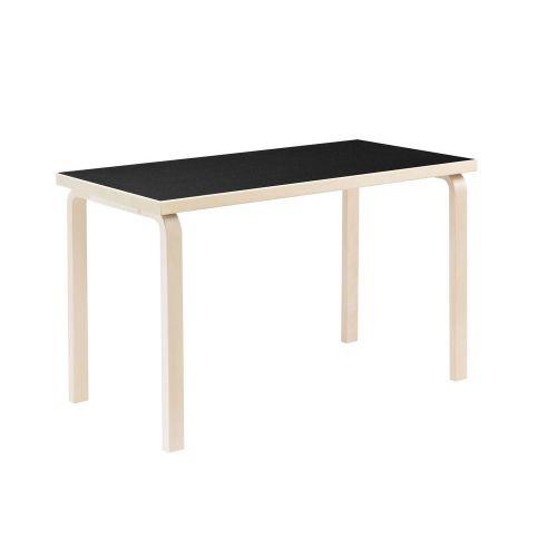 テーブル80A / ブラックリノリウム W120×D60cm (Artek / アルテック)