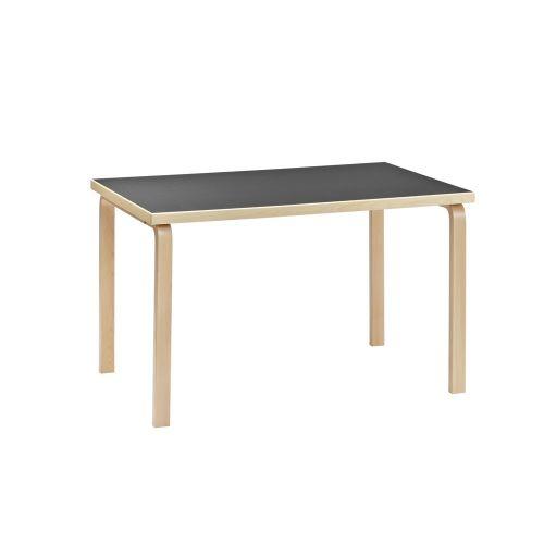 テーブル81B / ブラックリノリウム W120×D75cm (Artek / アルテック)