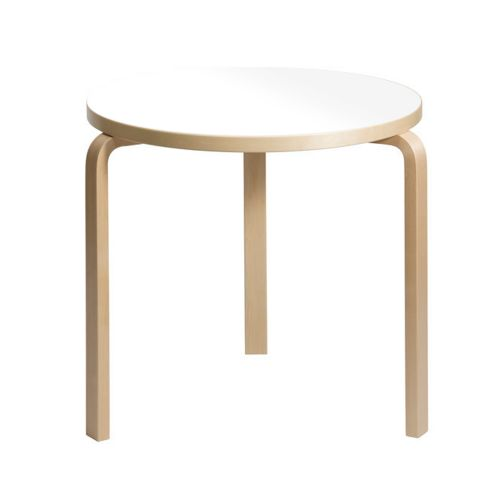 テーブル90B / ホワイトラミネート φ75×H72cm (Artek / アルテック)