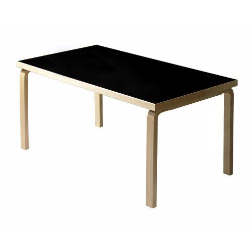 テーブル82B / ブラックリノリウム W135×D85cm (Artek / アルテック)