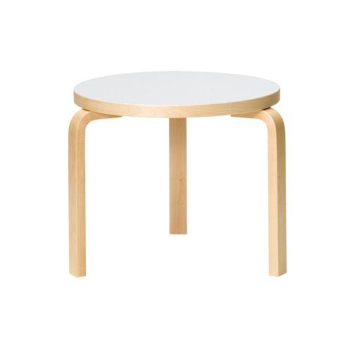 テーブル90D / ホワイトラミネート φ48×H44cm  (Artek / アルテック)