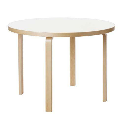 テーブル90A / ホワイトラミネート φ100×H72cm (Artek / アルテック)