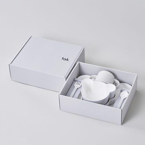 ギフトボックス ベア カトラリー グレー / Gift box bear cutlery (tak / タック)