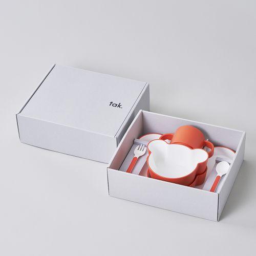 ギフトボックス ベア カトラリー オレンジ / Gift box bear cutlery (tak / タック)