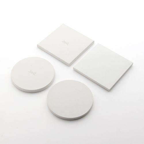 soil ソイル ラージコースター 2枚セット / ホワイト