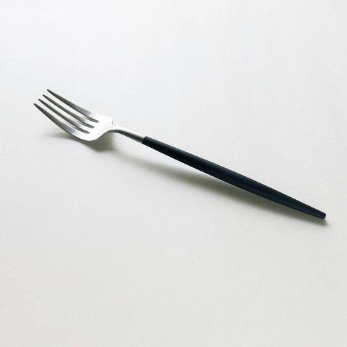 クチポール ディナーフォーク ゴア / ブラック×シルバー (Cutipol GOA)