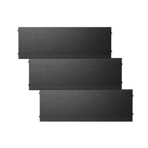 シェルフ3枚組 58×20cm / ブラックステインドアッシュ (String System / ストリング システム)