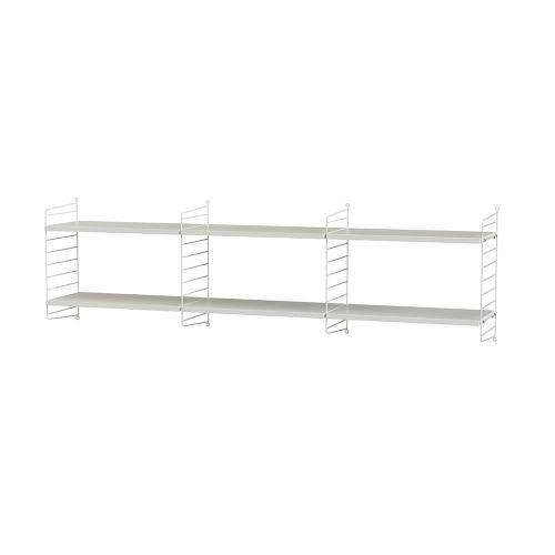 シェルフ+フロアパネル W180×D30×H50cm / MDF (String Bundles Living)