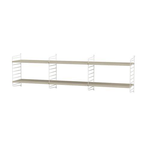 シェルフ+フロアパネル W180×D30×H50cm / ウッド (String Bundles Living)