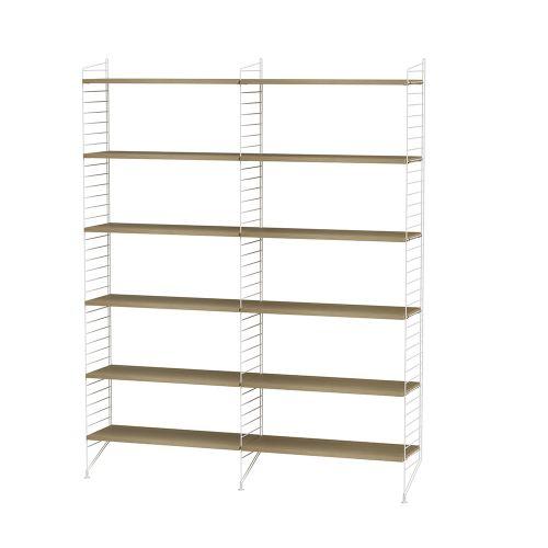 シェルフ+フロアパネル W120×D30×H200cm / ウッド (String Bundles Living)