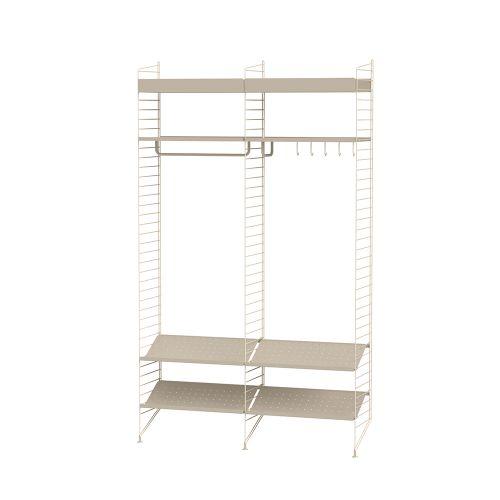 メタルシェルフ+シューズラック W120×D30×H200cm (String Bundles Hallway)