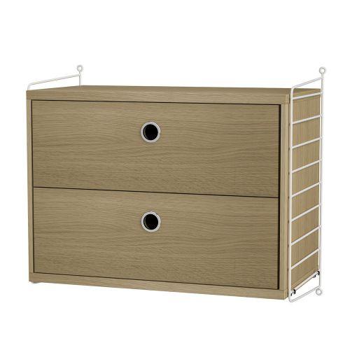 チェスト+ウォールパネル W60×D30×H50cm / ウッド (String Bundles bed room)