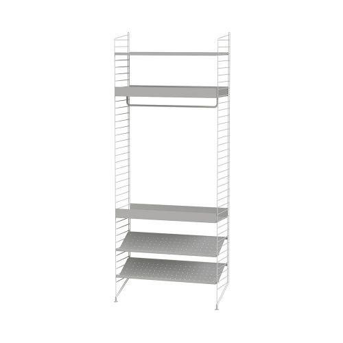 メタルシェルフ+フロアパネル W80×D30×H200cm (String Bundles bed room)