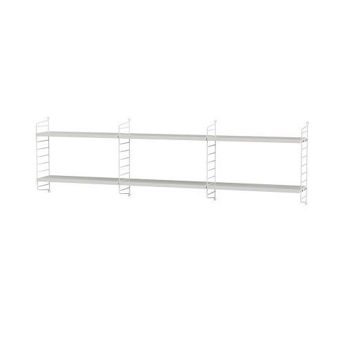 シェルフ+ウォールパネル W180×D20×H50cm / MDF (String Bundles bed room)