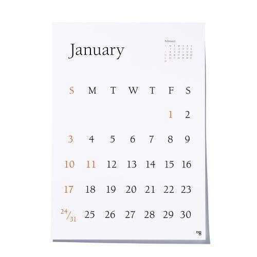 【アウトレット】カレンダー 2021 / TYPEFACE Berkey ポスターカレンダー (D-BROS ディーブロス)