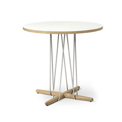 E020 エンブレイステーブル φ79.5cm ホワイト / オーク材 オイルフィニッシュ (Carl Hansen & Son / カールハンセン&サン)