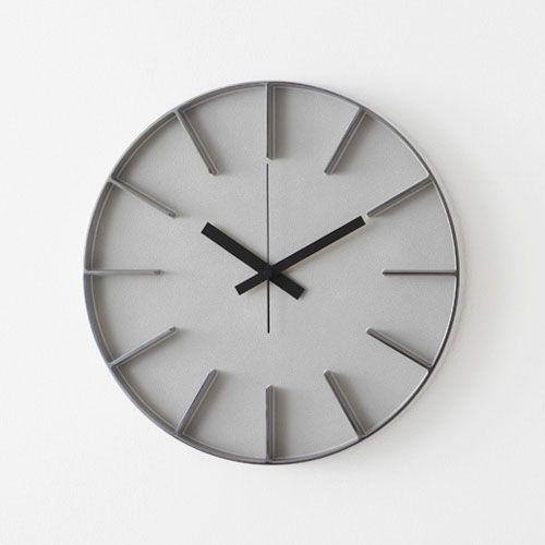 ウォールクロックL / シルバー (AZUMI edge clock / アズミエッジクロック)
