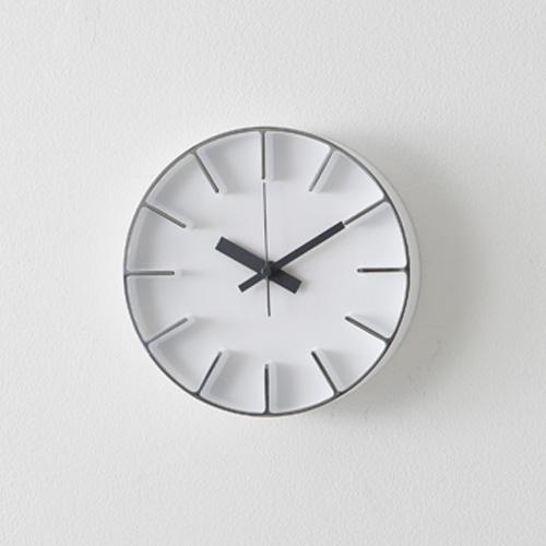 ウォールクロックS / ホワイト (AZUMI edge clock / アズミエッジクロック)