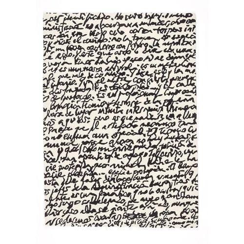 Black on White Manuscrit / ラグマット マニュスクリット / 200×300cm (nanimarquina / ナニマルキーナ)
