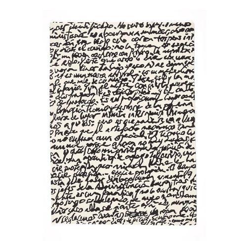Black on White Manuscrit / ラグマット マニュスクリット / 170×240cm (nanimarquina / ナニマルキーナ)