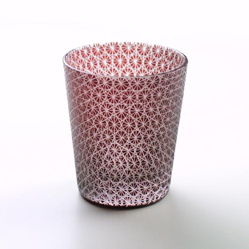 切子グラス 菊繋ぎ赤 タンブラー (Comma / コンマ)