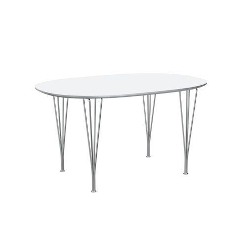 スーパー楕円テーブル / B611 ホワイト W135×D90cm (Fritz Hansen / フリッツ・ハンセン)