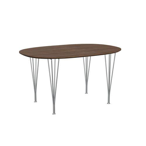 スーパー楕円テーブル / B611 ウォールナット W135×D90cm (Fritz Hansen / フリッツ・ハンセン)