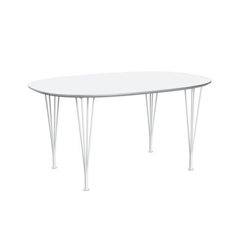 スーパー楕円テーブル ホワイト×ホワイトレッグ W150×D100cm / Super Ellipse B612 (Fritz Hansen / フリッツ・ハンセン)