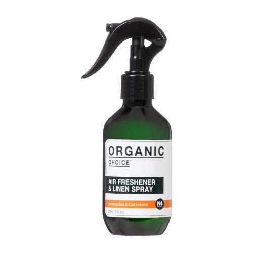 エアフレッシュナー&リネンスプレー 200ml / レモングラス&シダーウッド (Organic choice オーガニックチョイス)