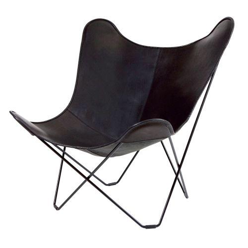 ビーケーエフ バタフライチェア マリポサ ブラック / BKF Chair (Cuero)